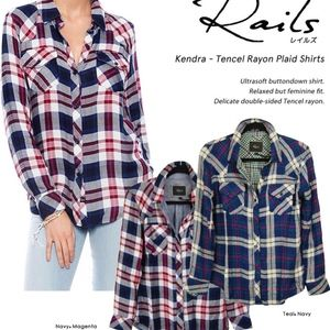 Rails Kendra Plaid Button Down Shirt